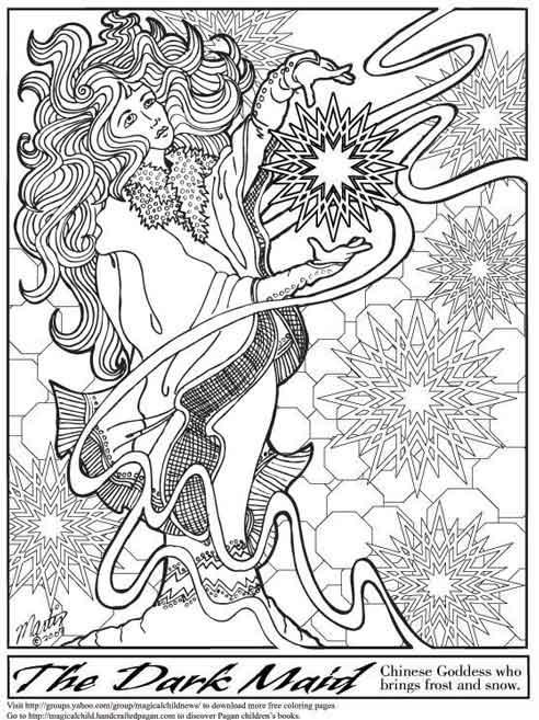 pagan / fantasy kleurplaten…  ~ * pagan ouderschap