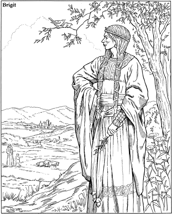 Free Coloring Pages Of Pagan Yule Wiccan Coloring Pages