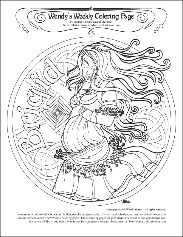 free wiccan coloring pages - photo#26