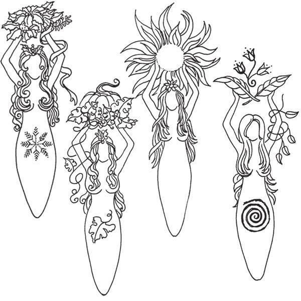 pagan yule coloring pages - photo #12