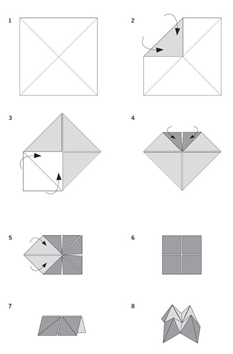 Origami Cootie Catcher Steps