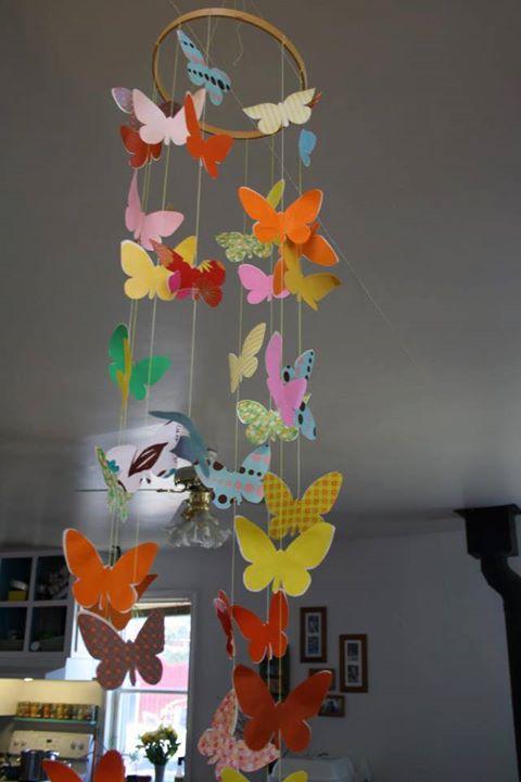 Детская мобиль бабочки своими руками