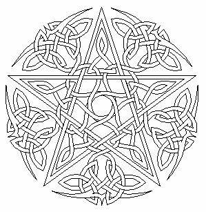 free wiccan coloring pages - photo#5