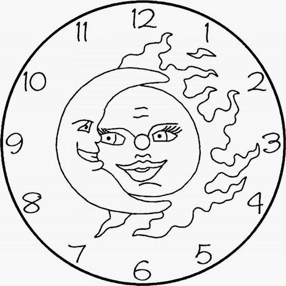 klok maan zon kleurplaat pagan ouderschap pagan parenting