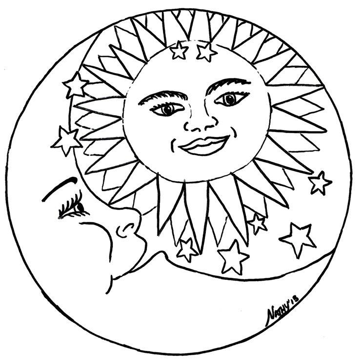 pagan yule coloring pages - photo #10