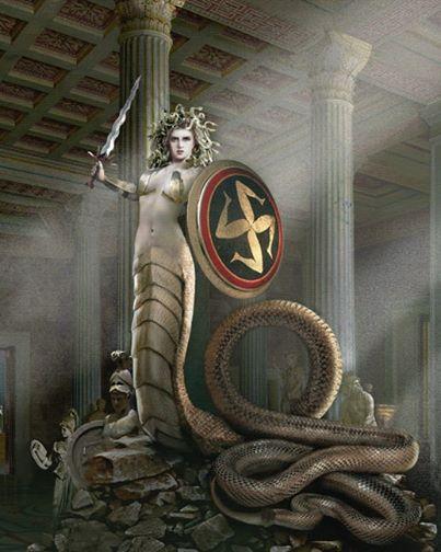 Medusa Afbeelding….   ~ * Pagan Ouderschap / Pagan ...